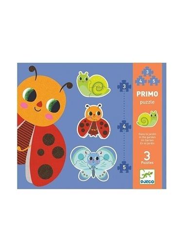 Djeco Djeco İlerleyen Puzzle / In The Garden - 3, 4, 5 Pcs Pembe